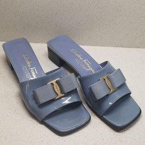 SALVATORE FERRAGAMO heeled slip-ons (size 6B)